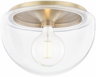 Mitzi H284501L-AGB Grace Modern Aged Brass Flush Mount Light Fixture