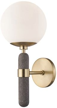 Mitzi H289101-AGB Brielle Modern Aged Brass Wall Sconce Lighting