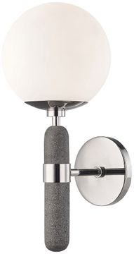 Mitzi H289101-PN Brielle Contemporary Polished Nickel Wall Light Fixture