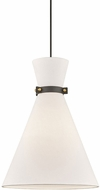 Mitzi H294701L-AGB-BK Julia Modern Aged Brass / Black Ceiling Pendant Light