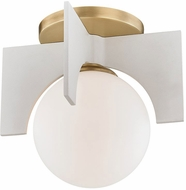 Mitzi H299501S-AGB-WH Nadia Modern Aged Brass / White Xenon Overhead Lighting