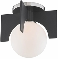Mitzi H299501S-PN-BK Nadia Contemporary Polished Nickel / Black Xenon Flush Mount Light Fixture
