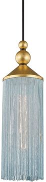 Mitzi H300701-GL-BL Scarlett Contemporary Gold Leaf / Blue Mini Lighting Pendant