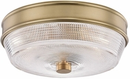 Mitzi H309501-AGB Lacey Modern Aged Brass Flush Mount Lighting Fixture