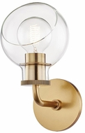 Mitzi H311301-AGB Noelle Contemporary Aged Brass Sconce Lighting
