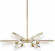 Mitzi H326806-AGB Ariel Contemporary Aged Brass Lighting Chandelier