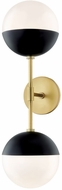 Mitzi H344102A-AGB-BK Renee Contemporary Aged Brass  /  Black Lighting Sconce