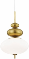 Mitzi H347701-AGB Elsie Contemporary Aged Brass Hanging Pendant Lighting