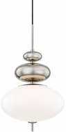 Mitzi H347701-PN Elsie Modern Polished Nickel Hanging Pendant Light