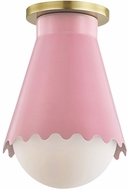Mitzi H351501-AGB-BLSH Lauryn Contemporary Aged Brass  /  Pink Overhead Lighting Fixture