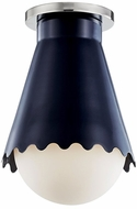 Mitzi H351501-PN-NVY Lauryn Modern Polished Nickel  /  Navy Ceiling Light Fixture