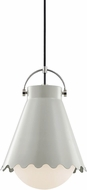 Mitzi H351701L-PN-GRY Lauryn Contemporary Polished Nickel  /  Gray Drop Lighting