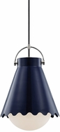 Mitzi H351701L-PN-NVY Lauryn Modern Polished Nickel  /  Navy Drop Ceiling Lighting