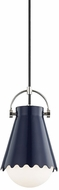 Mitzi H351701S-PN-NVY Lauryn Modern Polished Nickel / Navy Mini Drop Lighting Fixture