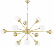 Mitzi H375812-AGB Ariana Modern Aged Brass LED Ceiling Chandelier