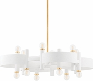 Mitzi H379812-GL/WH Maddie Modern Gold Leaf / White Ceiling Lighting