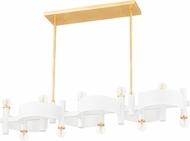 Mitzi H379910-GL/WH Maddie Modern Gold Leaf / White Island Lighting