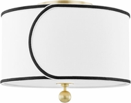 Mitzi H381602-AGB Zara Contemporary Aged Brass Ceiling Lighting