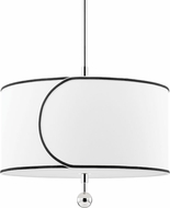 Mitzi H381701L-PN Zara Contemporary Polished Nickel Drum Lighting Pendant