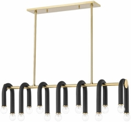 Mitzi H382914-AGB_BK Whit Contemporary Aged Brass / Black Island Lighting