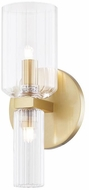 Mitzi H384301-AGB Tabitha Contemporary Aged Brass Bath Wall Sconce Lighting