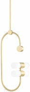 Mitzi H388704B-AGB Rae Contemporary Aged Brass Mini Hanging Pendant Light