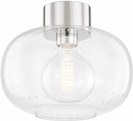 Mitzi H403501-PN Harlow Contemporary Polished Nickel Flush Mount Ceiling Light Fixture