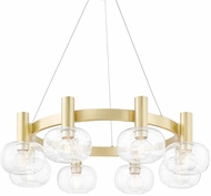 Mitzi H403808-AGB Harlow Contemporary Aged Brass Hanging Chandelier