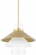 Mitzi H404701L-AGB Jessy Modern Aged Brass Drop Ceiling Lighting