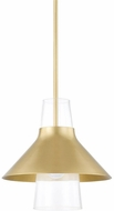 Mitzi H404701S-AGB Jessy Contemporary Aged Brass Mini Drop Ceiling Light Fixture