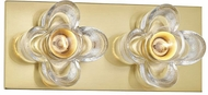 Mitzi H410302-AGB Shea Contemporary Aged Brass 2-Light Bath Sconce