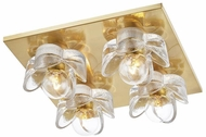 Mitzi H410504-AGB Shea Contemporary Aged Brass Ceiling Lighting