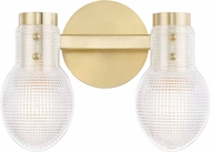Mitzi H417302-AGB Jenna Contemporary Aged Brass 2-Light Bathroom Light