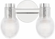 Mitzi H417302-PN Jenna Modern Polished Nickel 2-Light Bathroom Lighting Fixture
