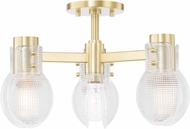 Mitzi H417603-AGB Jenna Contemporary Aged Brass Ceiling Light Fixture