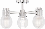Mitzi H417603-PN Jenna Modern Polished Nickel Ceiling Lighting Fixture
