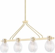 Mitzi H417904-AGB Jenna Contemporary Aged Brass Island Light Fixture