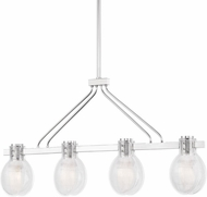 Mitzi H417904-PN Jenna Contemporary Polished Nickel Kitchen Island Light Fixture