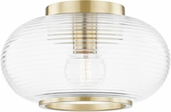 Mitzi H418501-AGB Maggie Contemporary Aged Brass Ceiling Light Fixture