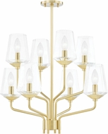 Mitzi H420808-AGB Kayla Modern Aged Brass Flush Mount Lighting