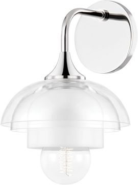 Mitzi H429101-PN Ruby Contemporary Polished Nickel Sconce Lighting