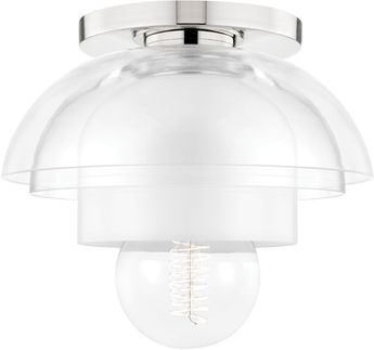 Mitzi H429601-PN Ruby Contemporary Polished Nickel Ceiling Light Fixture