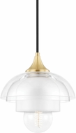 Mitzi H429701-AGB Ruby Contemporary Aged Brass Mini Hanging Light