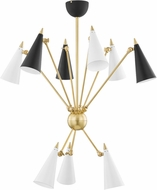 Mitzi H441809-AGB/BKWH Moxie Contemporary Aged Brass / Black / White Home Ceiling Lighting