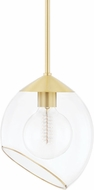 Mitzi H442701-AGB Claudia Contemporary Aged Brass Mini Ceiling Light Pendant