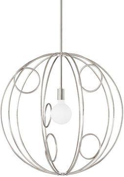 Mitzi H485701M-PN Alanis Contemporary Polished Nickel 28  Hanging Pendant Light