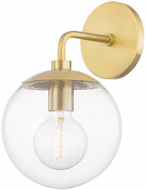 Mitzi H503101-AGB Meadow Contemporary Aged Brass Wall Light Fixture