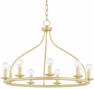 Mitzi H511809-AGB Kendra Contemporary Aged Brass 27  Chandelier Lamp
