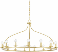 Mitzi H511815-AGB Kendra Modern Aged Brass 42 Hanging Chandelier