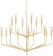 Mitzi H516815-AGB Bailey Modern Aged Brass 36 Hanging Chandelier